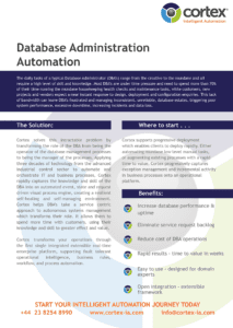 Cortex Database Administration Automation