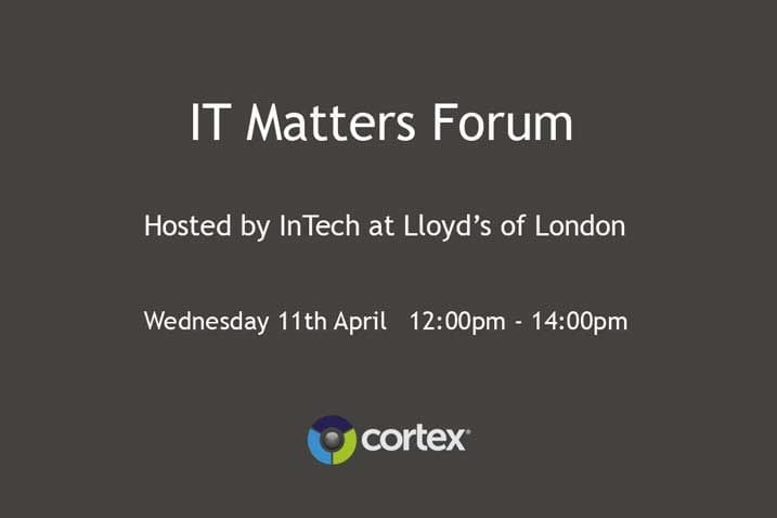 Information Technology Matters Forum – Hosted by Intech at Lloyd's of London